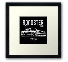 Roadster team. Mazda MX5 Miata (NB) Framed Print