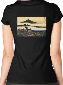 Katsushika, Hokusai, Thirty-six Views of Mount Fuji, no. 43, 7th additional woodcut.  Women's Fitted Scoop T-Shirt