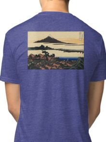 Katsushika, Hokusai, Thirty-six Views of Mount Fuji, no. 43, 7th additional woodcut.  Tri-blend T-Shirt