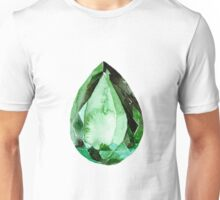 Emerald Stone in Watercolor Unisex T-Shirt