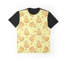 Pattern with a slice of cheese on a light yellow background Graphic T-Shirt
