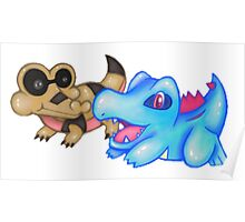 Best Buds (Sandile and Totodile) Poster