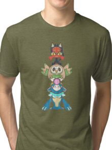 Alola starter Totem pole   Tri-blend T-Shirt