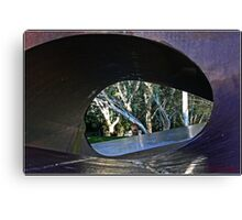 Look Through a Sculpture in Canberra Canvas Print
