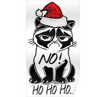 Sad Christmas Cat Poster
