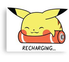 Recharging Pikachu Canvas Print