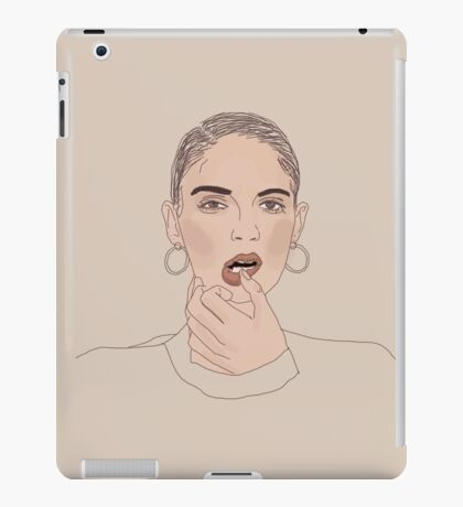 Girl with earrings iPad Case/Skin