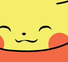 Recharging Pikachu Sticker