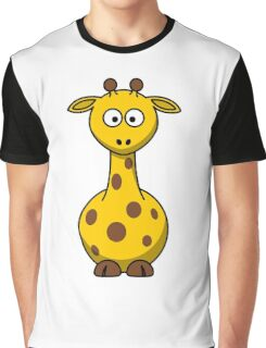 Giraffe, Cartoon, Africa, Wildlife, Trees, Fun, Funny Graphic T-Shirt