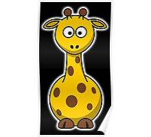 Giraffe, Cartoon, Africa, Wildlife, Trees, Fun, Funny Poster