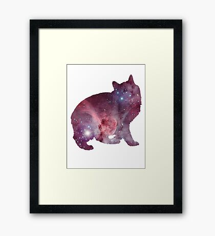 Nebula Kitty Framed Print