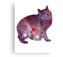 Nebula Kitty Canvas Print