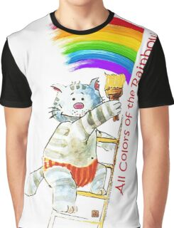 All Colors Of The Rainbow  (Original Artwork by Alice Iordache) Graphic T-Shirt