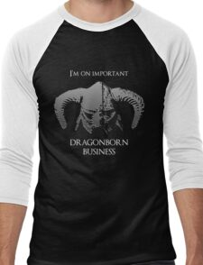 Skyrim | Dragonborn Business Men's Baseball ¾ T-Shirt