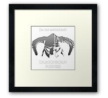 Skyrim | Dragonborn Business Framed Print