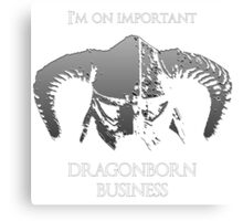 Skyrim | Dragonborn Business Canvas Print
