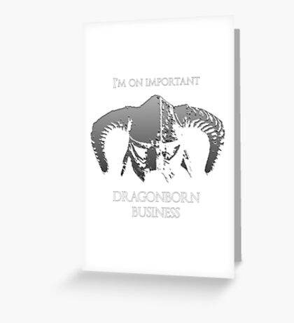 Skyrim | Dragonborn Business Greeting Card