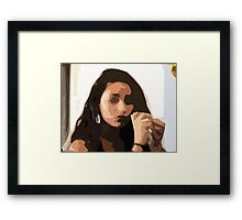 Coffee Store Stranger Framed Print