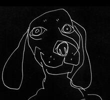 happy doxie by Matt Mawson