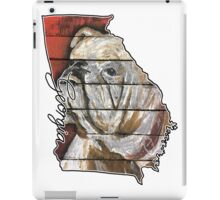 Georgia Bulldog State Outline iPad Case/Skin