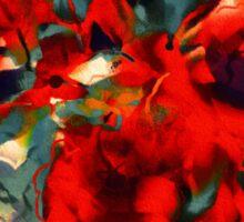 Red Flower Power Sticker
