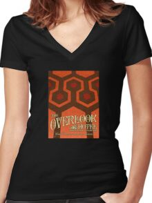 The Shining Overlook Hotel carpet Women's Fitted V-Neck T-Shirt