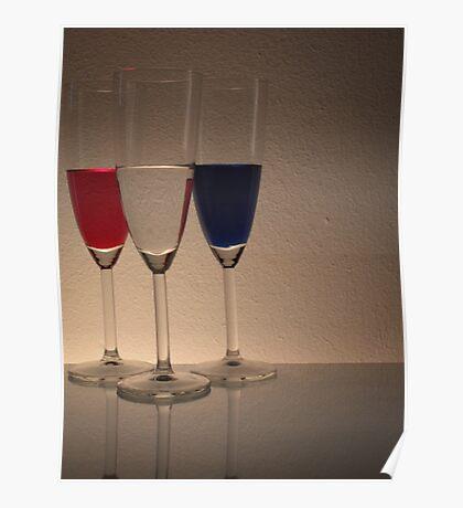 Coloured Glasses Poster