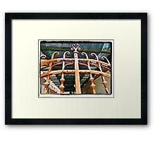 Rusty Gate Framed Print