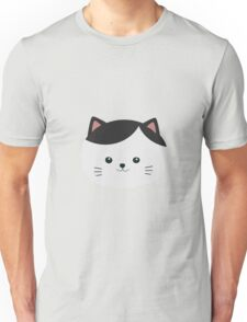 Cat with white fur and black hair Unisex T-Shirt