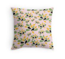 Vintage Pink Garden texture Throw Pillow