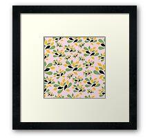 Vintage Pink Garden texture Framed Print