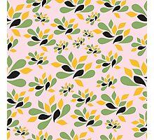 Vintage Pink Garden texture Photographic Print