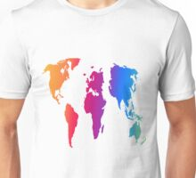 World Map in Bright Colors 1 Unisex T-Shirt