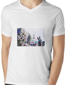man & mouse  Mens V-Neck T-Shirt