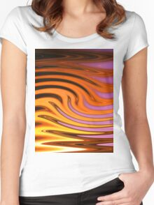 Flame and Fire Vector - Colorful Background Women's Fitted Scoop T-Shirt