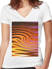 Flame and Fire Vector - Colorful Background Women's Fitted V-Neck T-Shirt