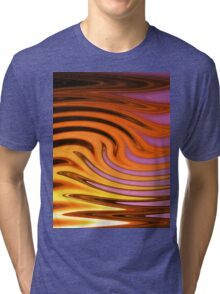Flame and Fire Vector - Colorful Background Tri-blend T-Shirt