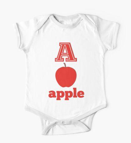 baby learns the alphabet a One Piece - Short Sleeve