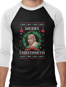 Merry Chrithmith Funny Christmas Men's Baseball ¾ T-Shirt