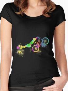 Festive bike Women's Fitted Scoop T-Shirt