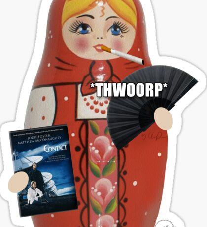 Katya Zamolodchikova Russian Doll Sticker