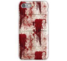 Bloody Crime Scene Halloween  iPhone Case/Skin