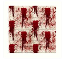 Bloody Crime Scene Halloween  Art Print