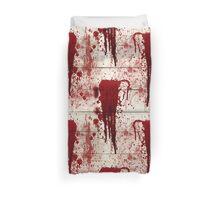 Bloody Crime Scene Halloween  Duvet Cover