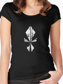 The Symbolic Face Splattered  Women's Fitted Scoop T-Shirt