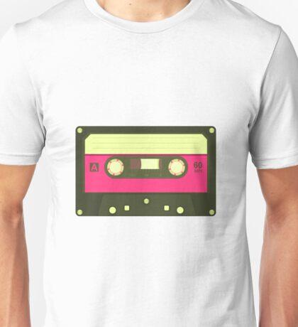 Pink Cassette Player Unisex T-Shirt