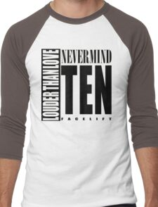 Nevermind Ten Facelift Louder than the Sound Grunge albums White version Men's Baseball ¾ T-Shirt