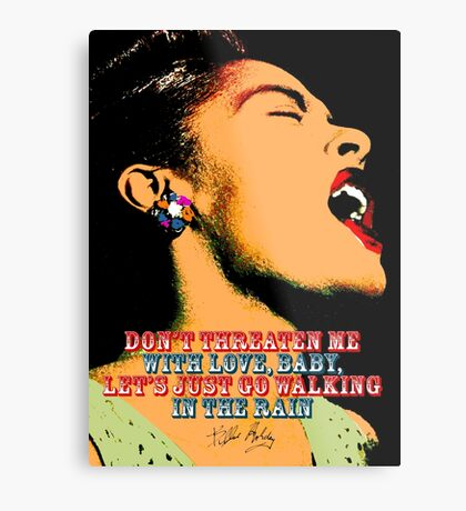 Billie Holiday Quote Metal Print