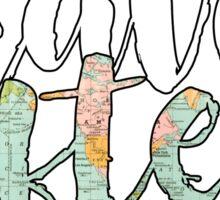 travel often map Sticker