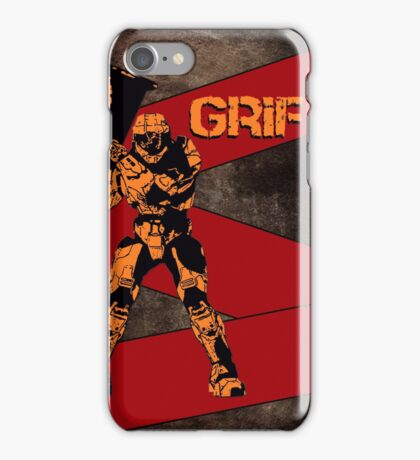 Red Vs Blue Grif Cone Texture iPhone Case/Skin